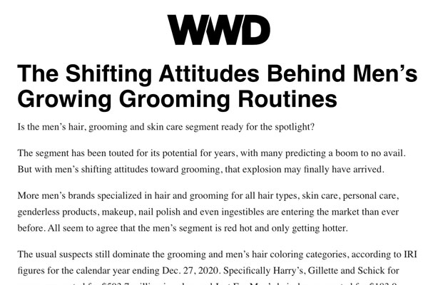 Men's Grooming Routines - WWD