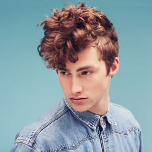 Mens Curly Pomadour