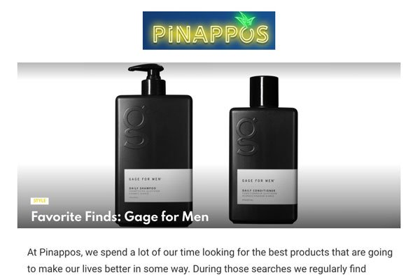 Favorite Finds: GAGE for Men - Pinappos